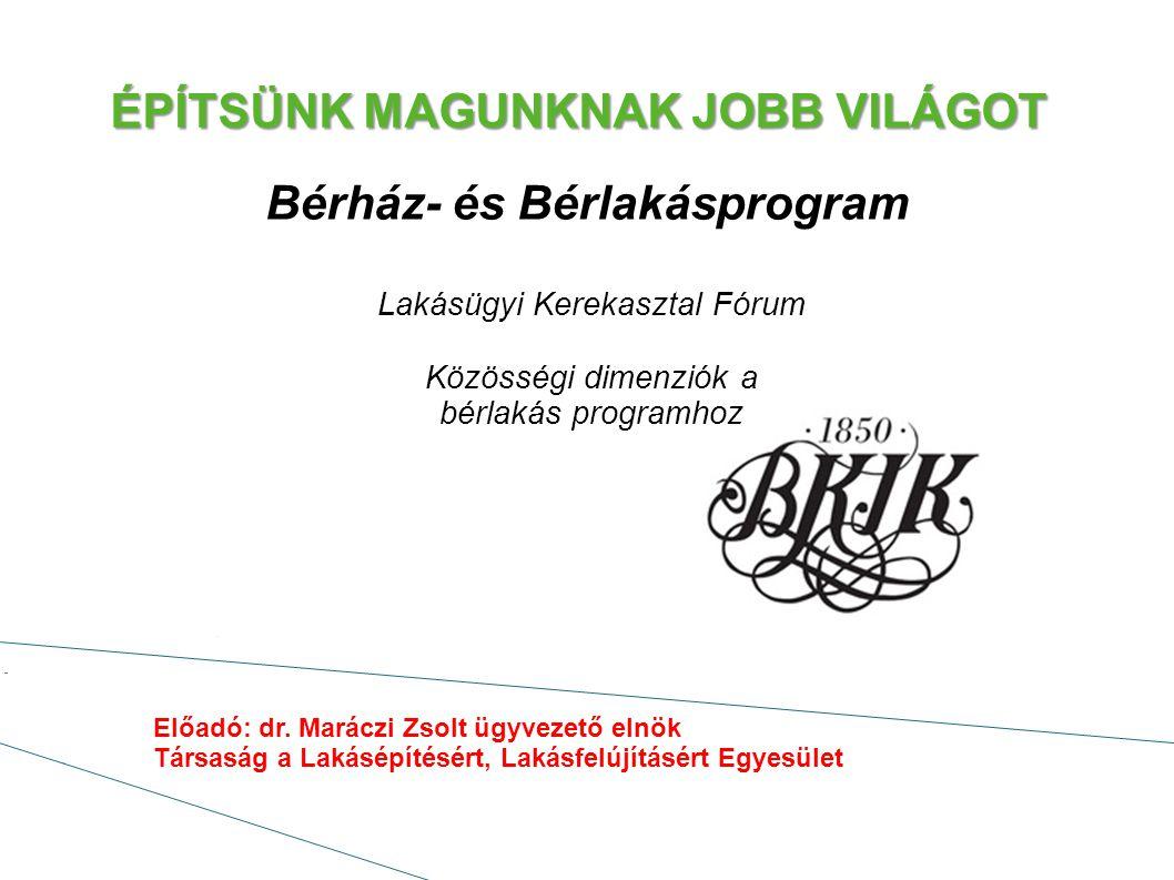 ÉPÍTSÜNK MAGUNKNAK JOBB VILÁGOT Uniós források becsatornázása a bérlakás építésbe: Partnerségi megállapodás Operatív programok EIB-kölcsönök -Kedvező kamat -Forint alap -Hosszú futamidő