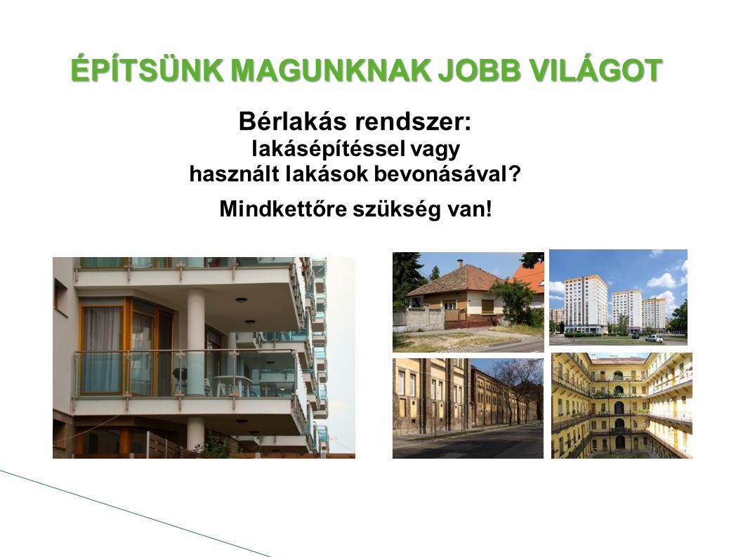 ÉPÍTSÜNK MAGUNKNAK JOBB VILÁGOT Bérlakás rendszer: lakásépítéssel vagy használt lakások bevonásával.