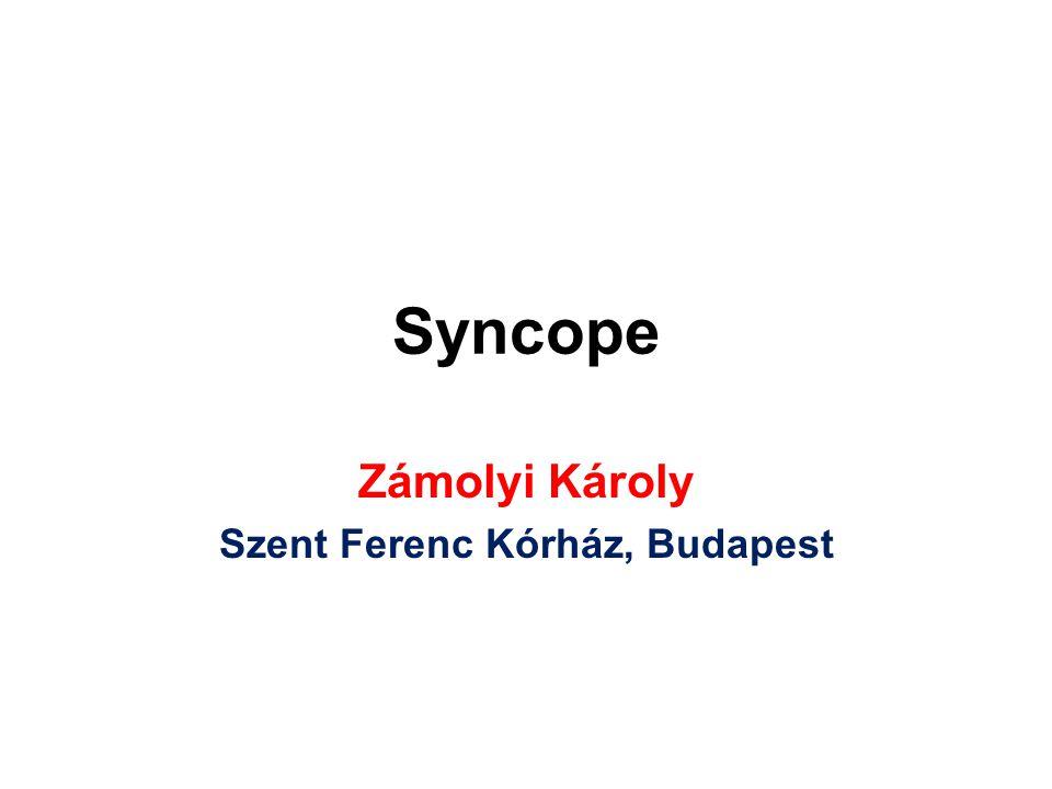 Syncope Zámolyi Károly Szent Ferenc Kórház, Budapest