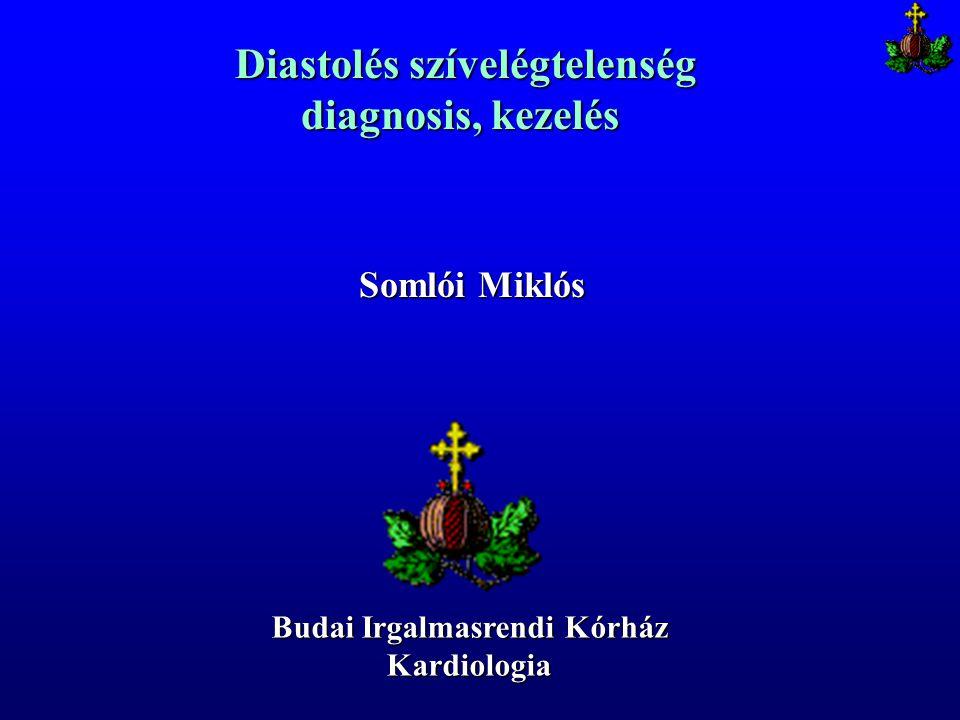 Diastolés szívelégtelenség Diastolés szívelégtelenség diagnosis, kezelés Budai Irgalmasrendi Kórház Kardiologia Somlói Miklós