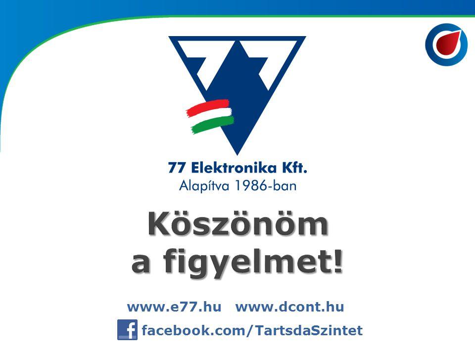 www.e77.hu www.dcont.hu facebook.com/TartsdaSzintet