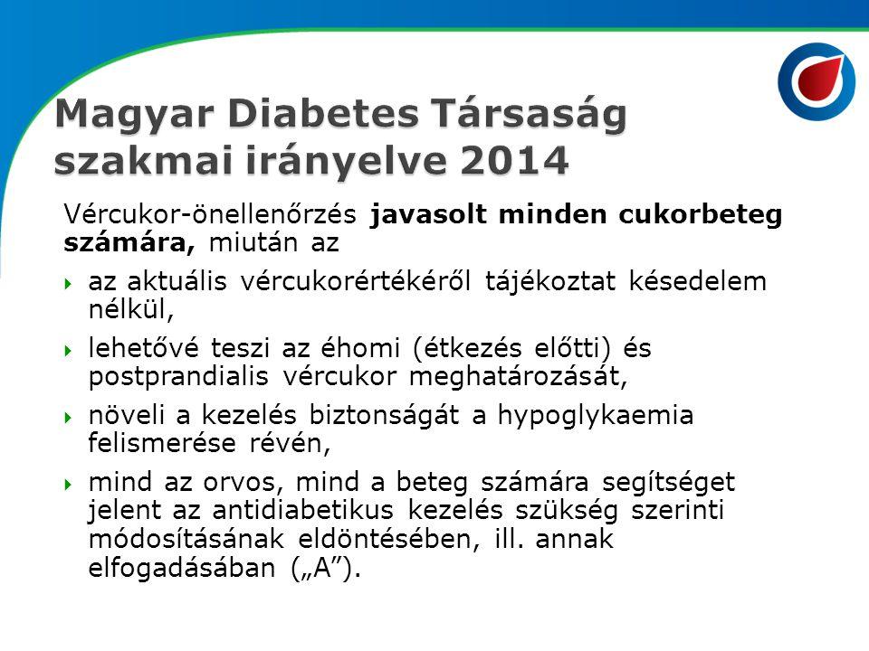 Vércukor-önellenőrzés javasolt minden cukorbeteg számára, miután az  az aktuális vércukorértékéről tájékoztat késedelem nélkül,  lehetővé teszi az é
