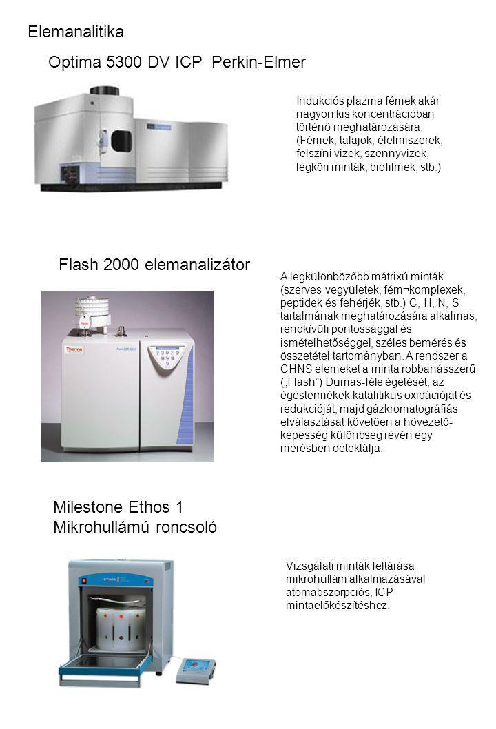 Elemanalitika Milestone Ethos 1 Mikrohullámú roncsoló A legkülönbözőbb mátrixú minták (szerves vegyületek, fém¬komplexek, peptidek és fehérjék, stb.)
