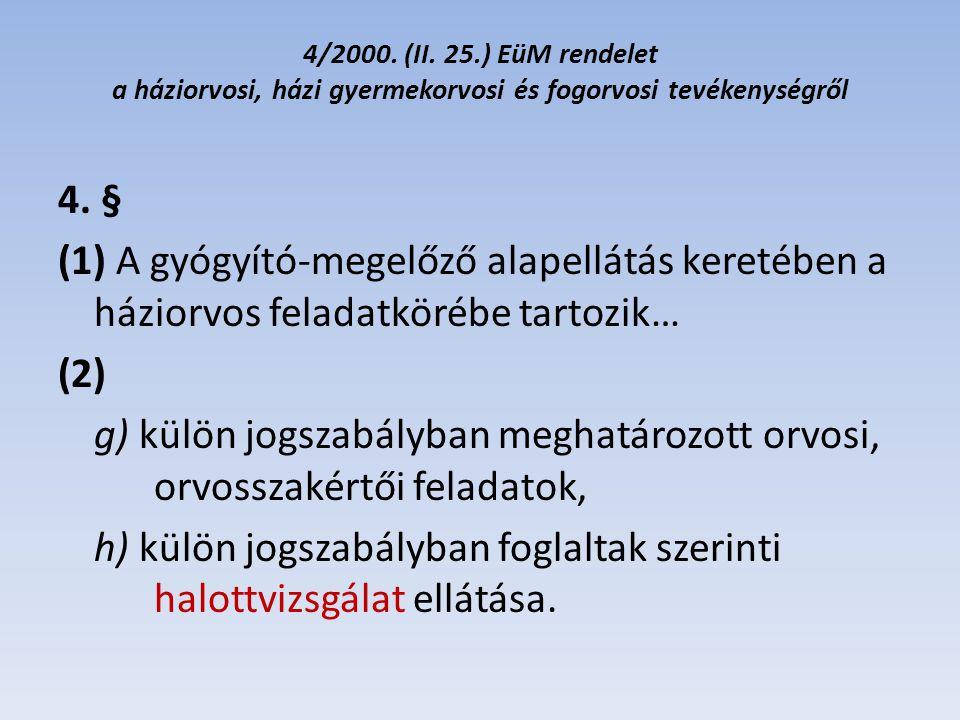 15/2005.(V. 2.) EüM rendelet az egészségügyi szolgáltatók szakmai felügyeletéről 6.