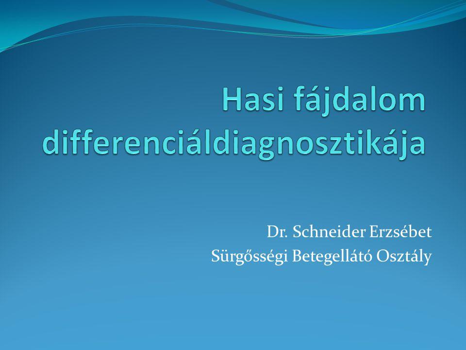 Dr. Schneider Erzsébet Sürgősségi Betegellátó Osztály