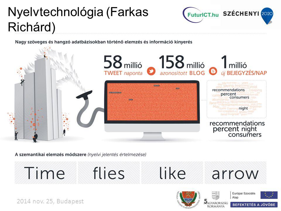 2014 nov. 25, Budapest5 Nyelvtechnológia (Farkas Richárd)