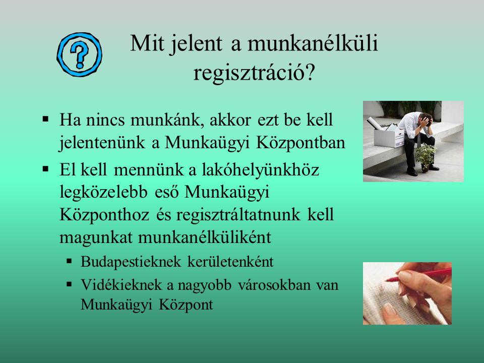 Mit jelent a munkanélküli regisztráció.