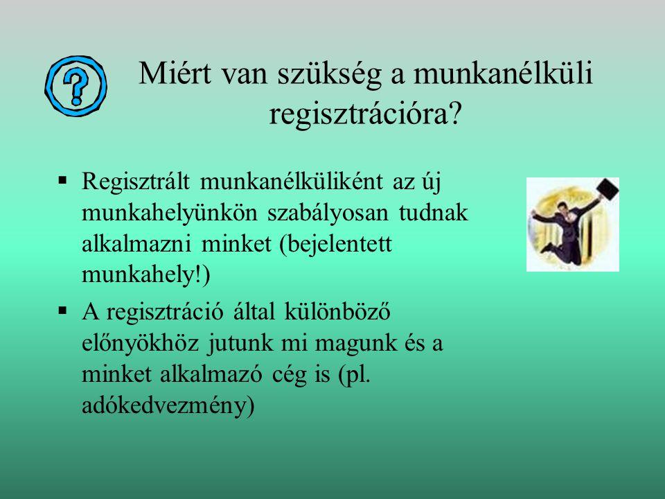 Miért van szükség a munkanélküli regisztrációra.