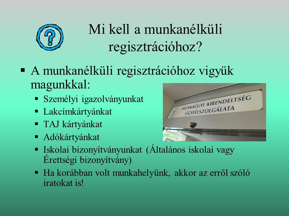 Mi kell a munkanélküli regisztrációhoz.