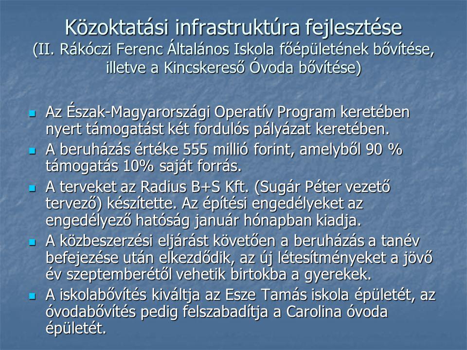 Közoktatási infrastruktúra fejlesztése (II.