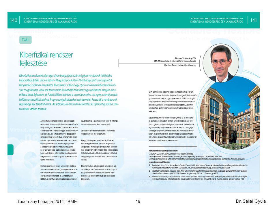 19 Dr. Sallai Gyula Tudomány hónapja 2014 - BME