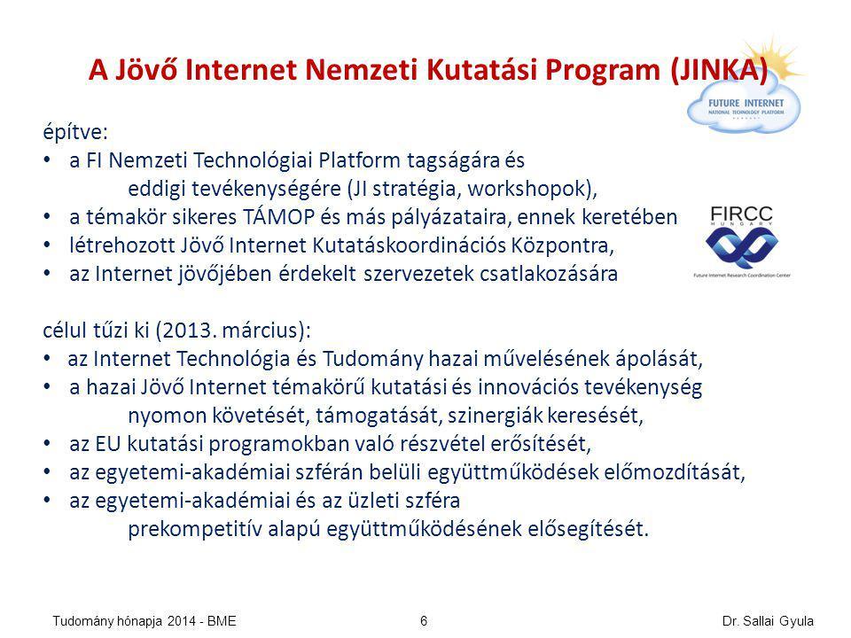 Jövő internet vízió 2014 NICT/NWGN, ITU-T/FN, FIA 2011-14 alapján Dr.