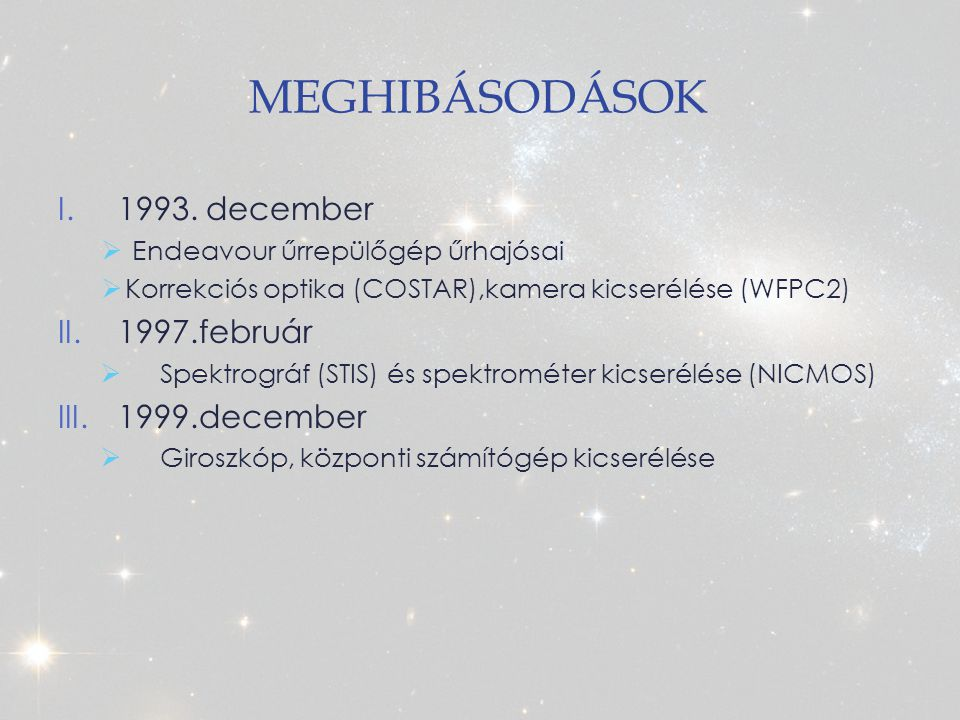 MEGHIBÁSODÁSOK I.1993.
