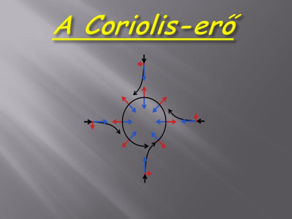 A Coriolis-erő a fizikában az inerciarendszerhez képest forgó (tehát egyben gyorsuló) vonatkoztatási rendszerben mozgó testre ható egyik tehetetlenségi erő.