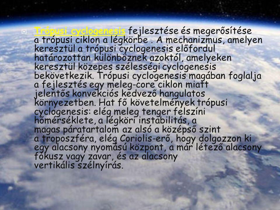  Trópusi cyclogenesis fejlesztése és megerősítése a trópusi ciklon a légkörbe. A mechanizmus, amelyen keresztül a trópusi cyclogenesis előfordul hatá