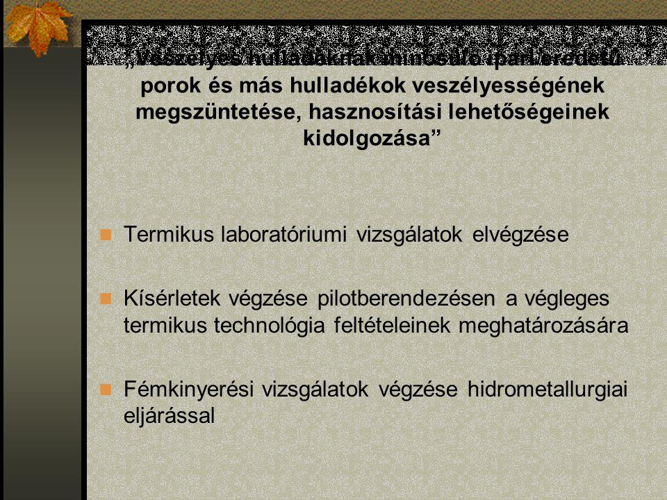 Hidrometallurgiai eljárás Zn-tartalmú melléktermékek feldolgozása