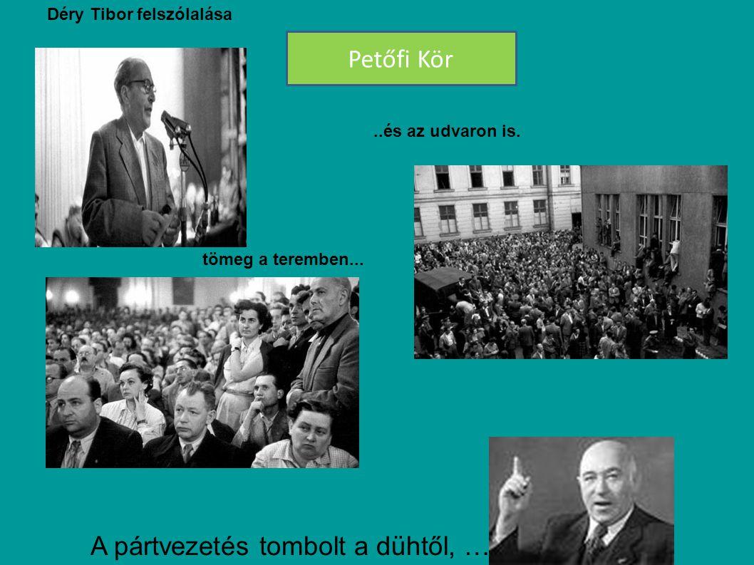 ( MDP küldöttsége Jugoszláviában 1956 október 23) Rákosi-rendszer Rákosi Mátyást Szovjet pártvezetés – ( Josip Broz Tito,Gerő Ernő, – Hegedüs András ) meneszti Gerő Ernő