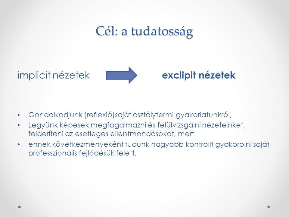 Nézetek feltárása: egy módszer… Szerintem az a jó tanár/óvodapedagógus… A tanulásban az a lényeg...