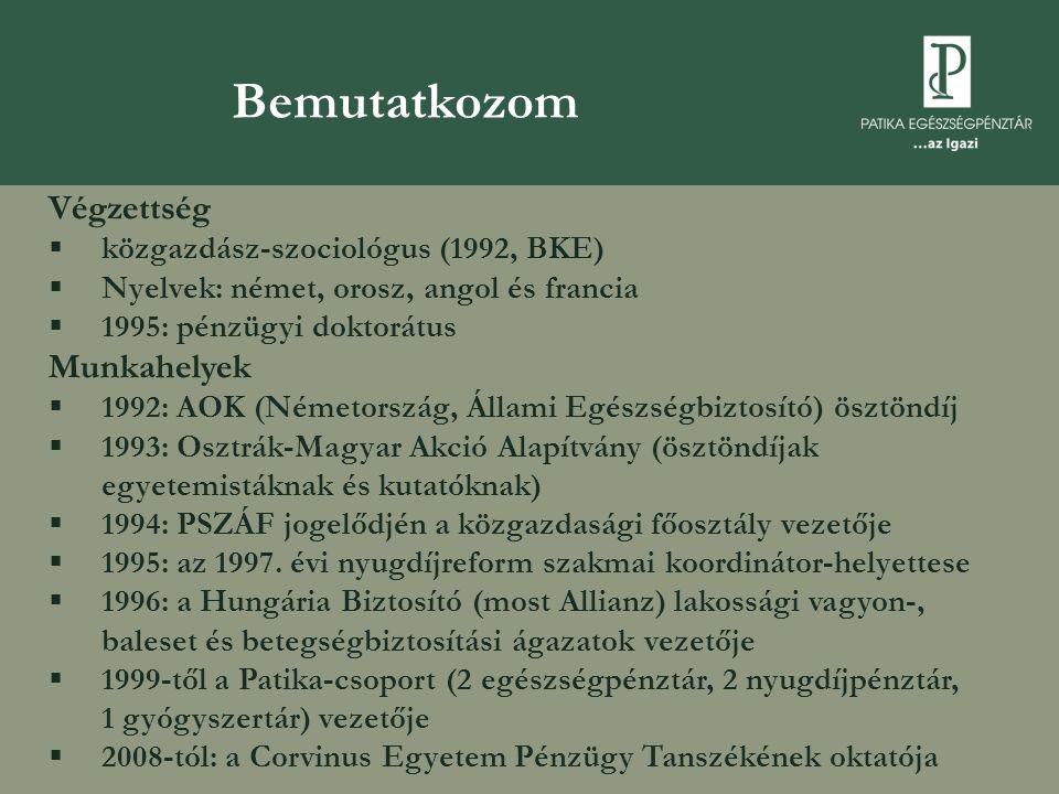 Végzettség  közgazdász-szociológus (1992, BKE)  Nyelvek: német, orosz, angol és francia  1995: pénzügyi doktorátus Munkahelyek  1992: AOK (Németország, Állami Egészségbiztosító) ösztöndíj  1993: Osztrák-Magyar Akció Alapítvány (ösztöndíjak egyetemistáknak és kutatóknak)  1994: PSZÁF jogelődjén a közgazdasági főosztály vezetője  1995: az 1997.