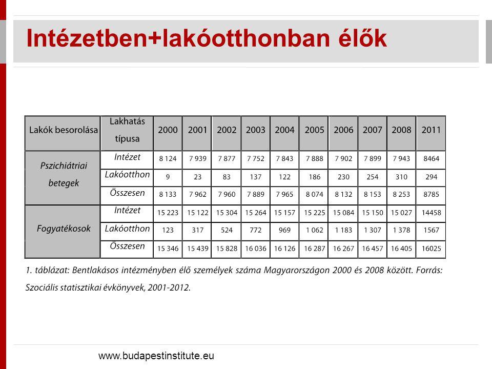 Egyéni kiadások: összeg azonos, forrás eltérő A kitagolás költségei - 1 www.budapestinstitute.eu éves költség, 2010.