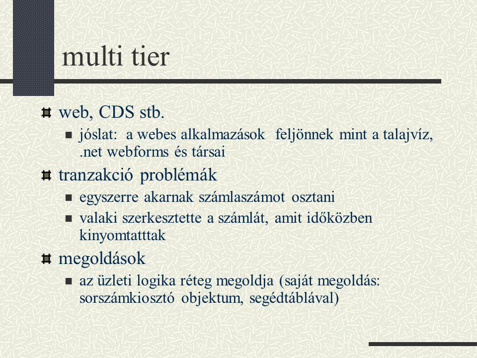 multi tier web, CDS stb.