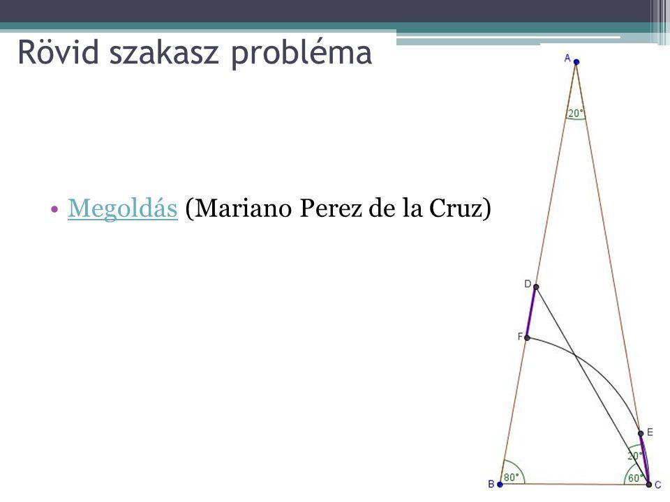 Rövid szakasz probléma Megoldás (Mariano Perez de la Cruz)Megoldás
