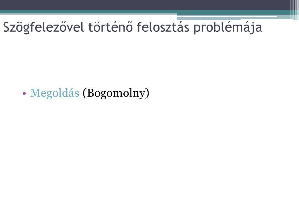 Szögfelezővel történő felosztás problémája Megoldás (Bogomolny)Megoldás