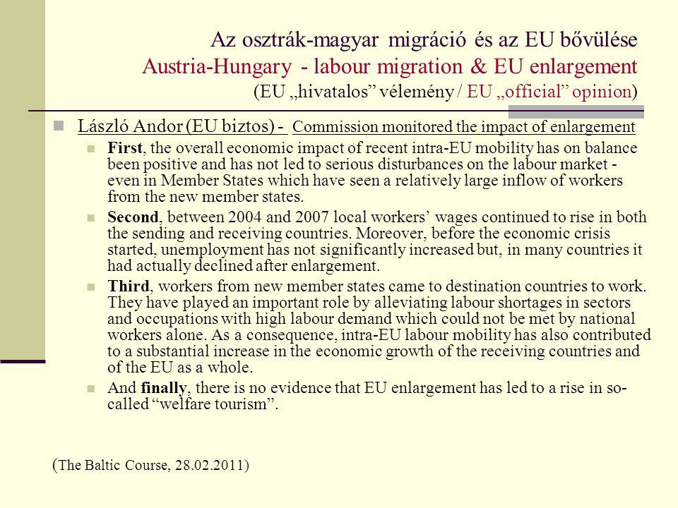 Magyarok munkavállalása / Hungarian labour emigration Tények, számok, statisztikák / Facts, data & statistics Migránsok foglalkozása / Profession of migrants 2007-2010 Forrás: HU LFS 1.