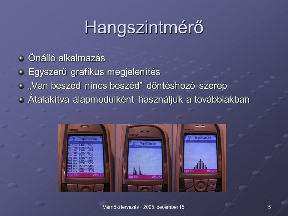 5Mérnöki tervezés - 2005. december 15.