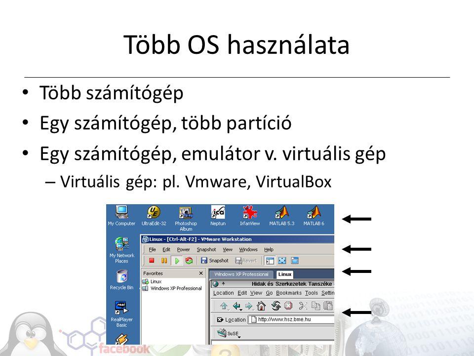 Különleges operációs rendszerek Szerverek, nagy teljesítményű számítógépek PDA, PNA Mobil telefonok Táblagépek Beágyazott rendszerek Speciális (automata, riasztó, stb.)