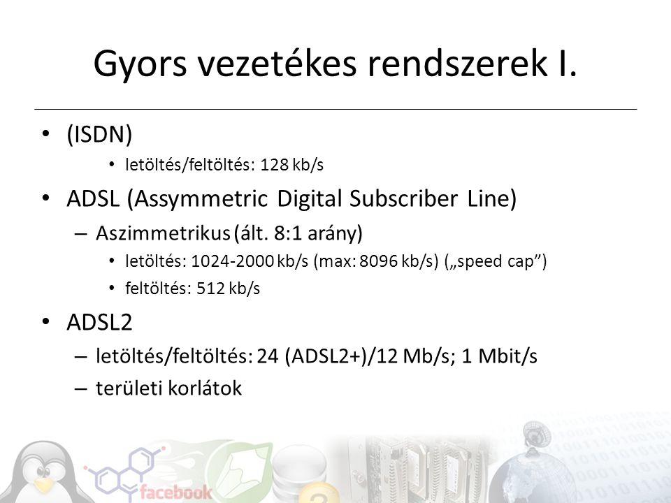Gyors vezetékes rendszerek II.