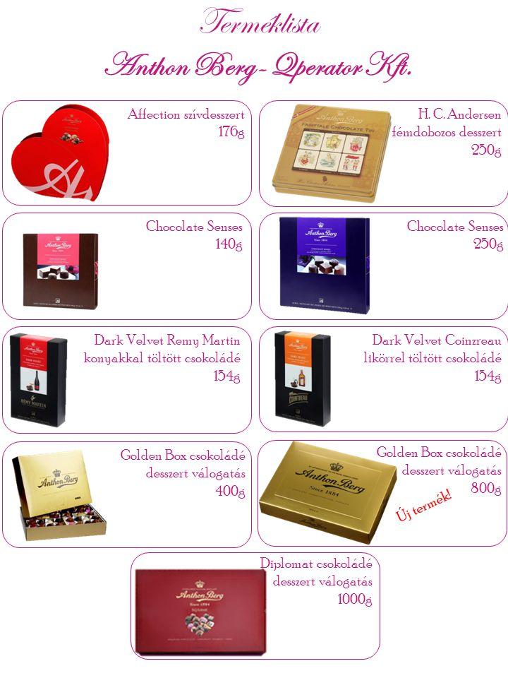 Diplomat csokoládé desszert válogatás 1000g Dark Velvet Remy Martin konyakkal töltött csokoládé 154g Affection szívdesszert 176g Chocolate Senses 140g