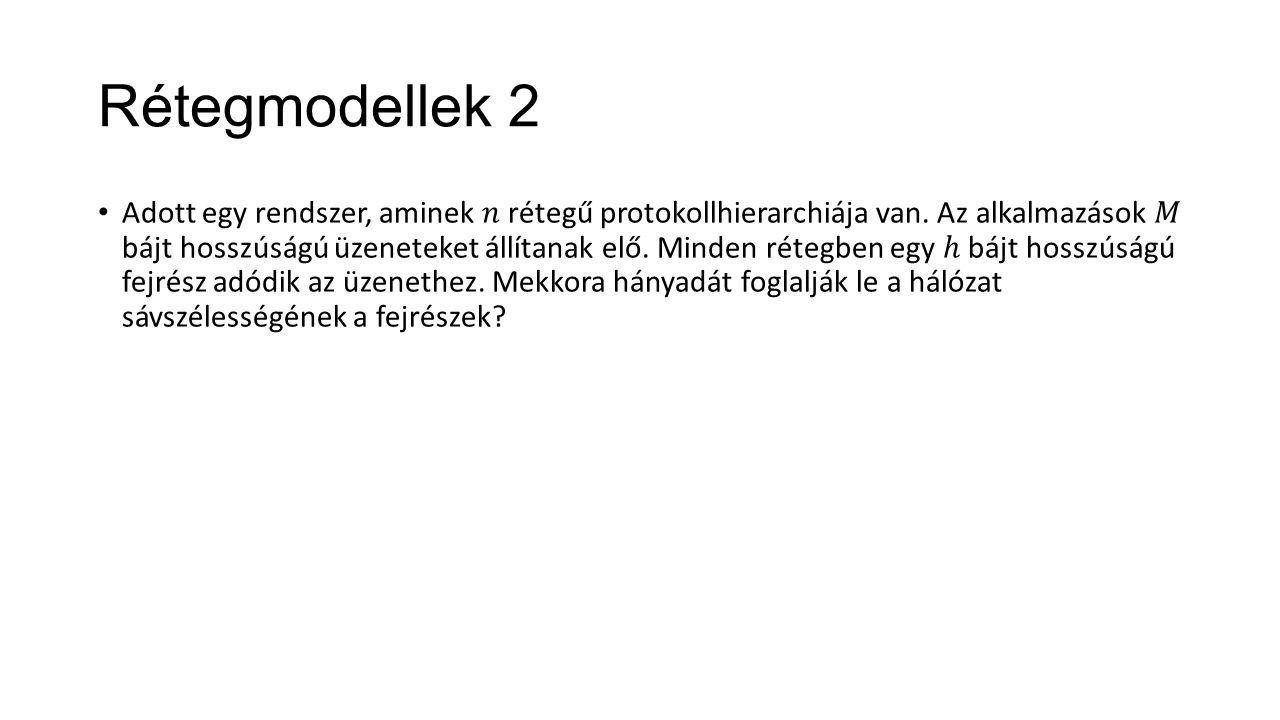 Rétegmodellek 2