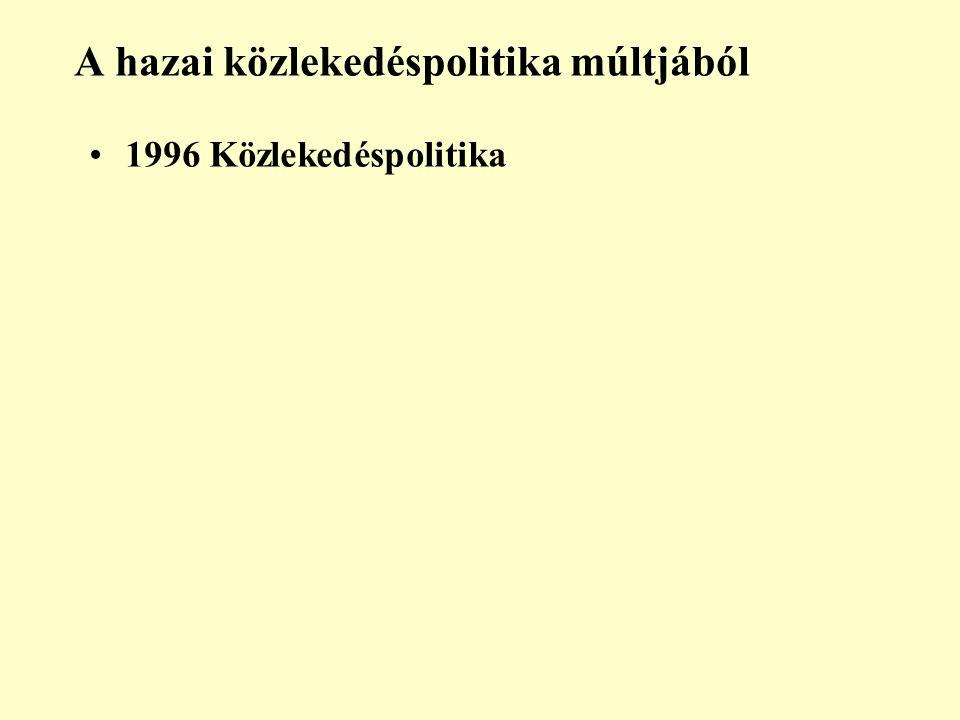 A hazai közlekedéspolitika múltjából 1996 Közlekedéspolitika