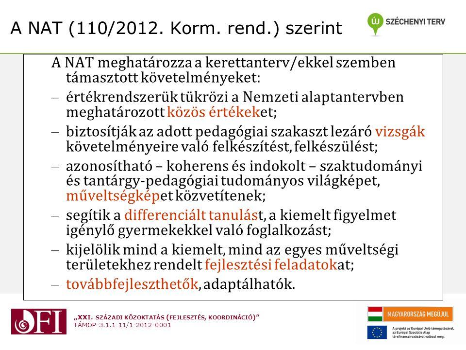 """""""XXI. SZÁZADI KÖZOKTATÁS ( FEJLESZTÉS, KOORDINÁCIÓ ) TÁMOP-3.1.1-11/1-2012-0001"""