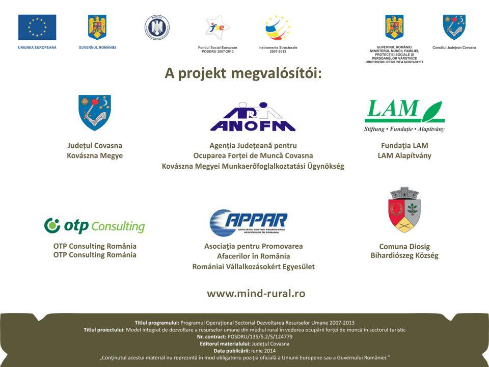 www.mind-rural.ro A projekt megvalósítói: