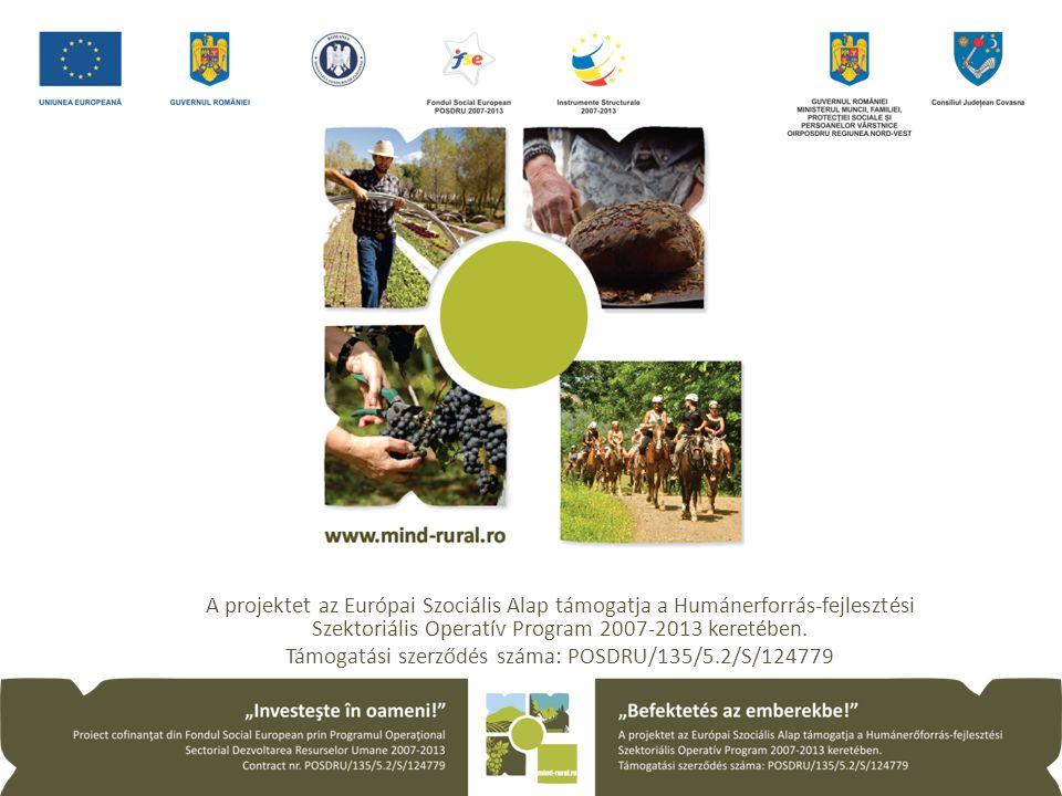 A projektet az Európai Szociális Alap támogatja a Humánerforrás-fejlesztési Szektoriális Operatív Program 2007-2013 keretében.
