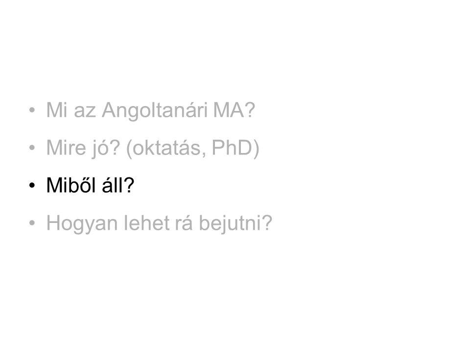 Miből áll az Angoltanári MA.