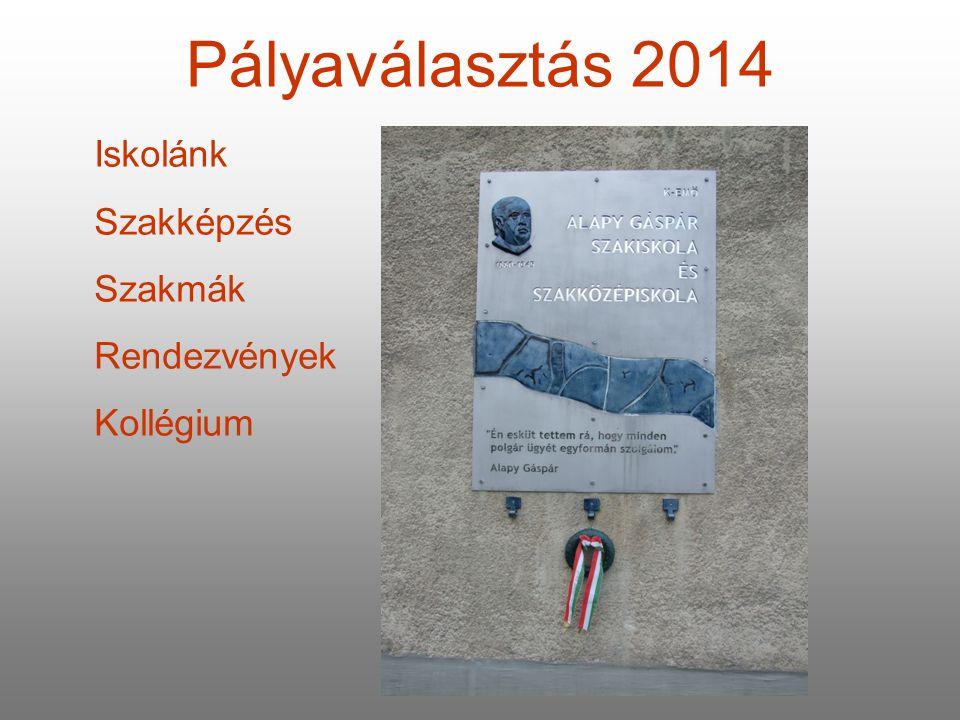 Pályaválasztás 2014 Iskolánk Szakképzés Szakmák Rendezvények Kollégium