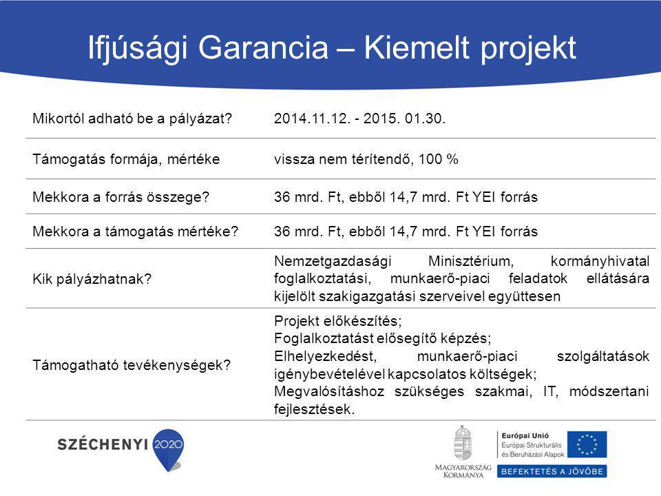 A felhívás célja a Magyarország területén új egyéni vagy mikro-vállalkozás indítását tervező, vállalkozói szemlélettel rendelkező fiatalok felkészítése saját vállalkozásuk indítására.