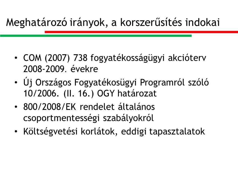 Meghatározó irányok, a korszerűsítés indokai COM (2007) 738 fogyatékosságügyi akcióterv 2008-2009.