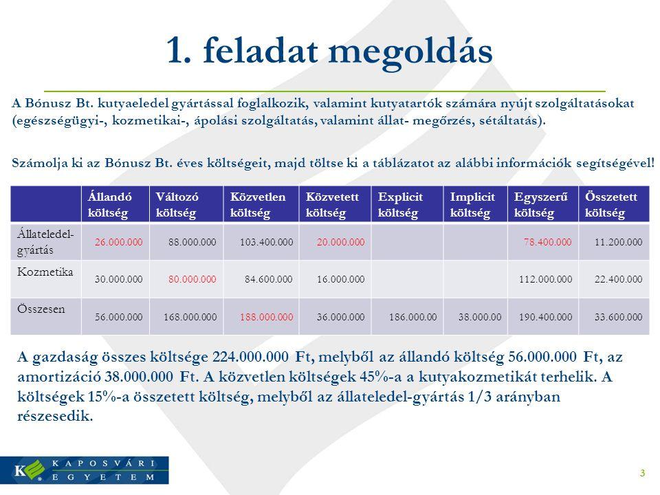 1.feladat megoldás 3 A Bónusz Bt.