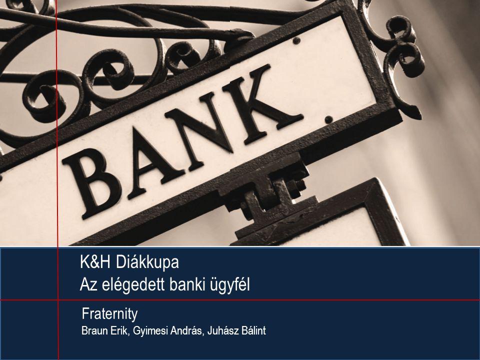 K&H Diákkupa Az elégedett banki ügyfél Fraternity Braun Erik, Gyimesi András, Juhász Bálint