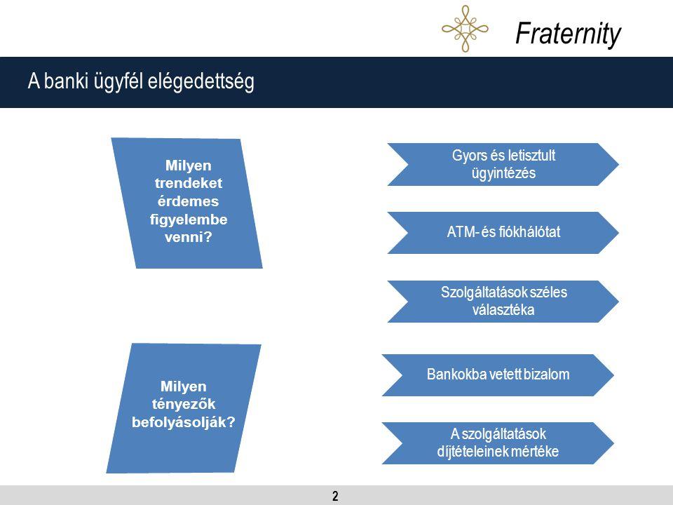 2 A banki ügyfél elégedettség Fraternity Milyen tényezők befolyásolják.