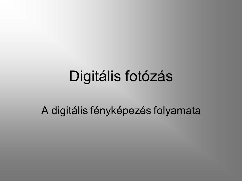 Digitális fotózás A digitális fényképezés folyamata