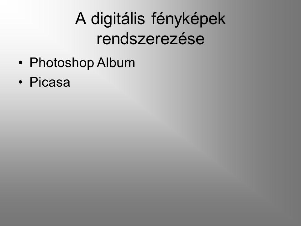 A digitális fényképek rendszerezése Photoshop Album Picasa
