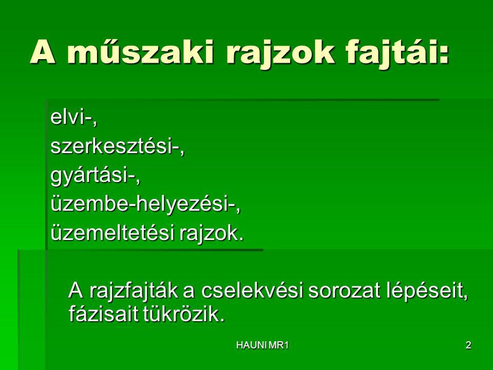 """ Segédnézet a """"helyén  Segédnézet """"nem a helyén HAUNI MR123"""