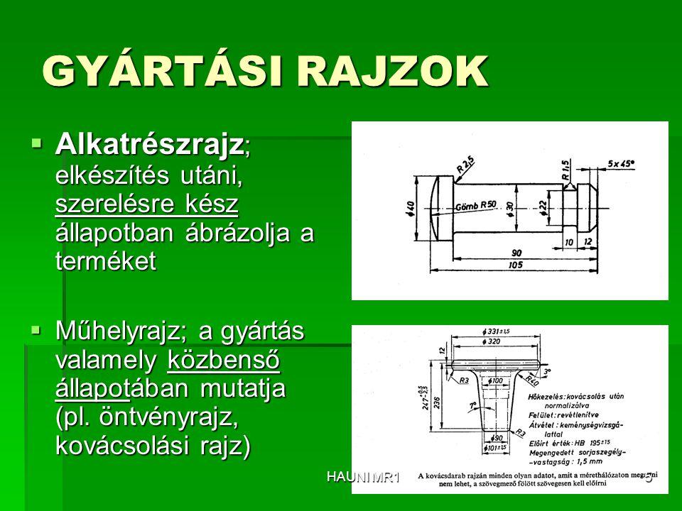  Kiemelt részlet (Lehet metszetben is) HAUNI MR126