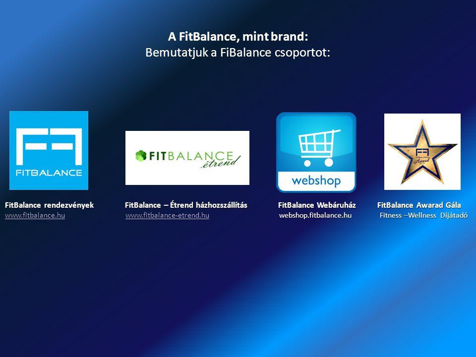 A FitBalance, mint brand: Bemutatjuk a FiBalance csoportot: FitBalance rendezvények FitBalance – Étrend házhozszállítás FitBalance Webáruház FitBalanc