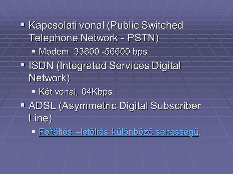 Adatátvitel iránya Adatátvitel sebessége Letöltés384kbit/s768kbit/s1,5Mbit/s Feltöltés64kbit/s128kbit/s384kbit/s